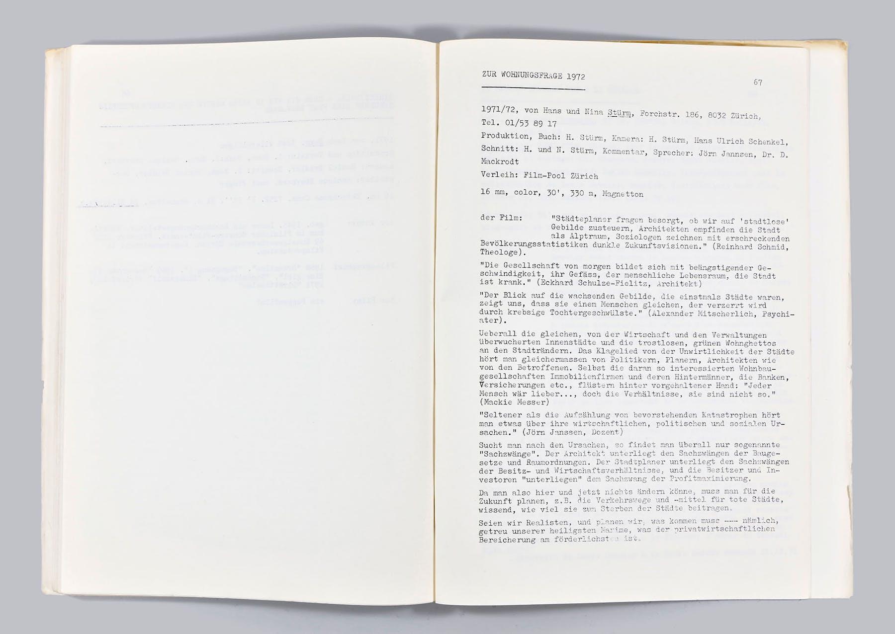 Bild 1 von Zur Wohnungsfrage 1972