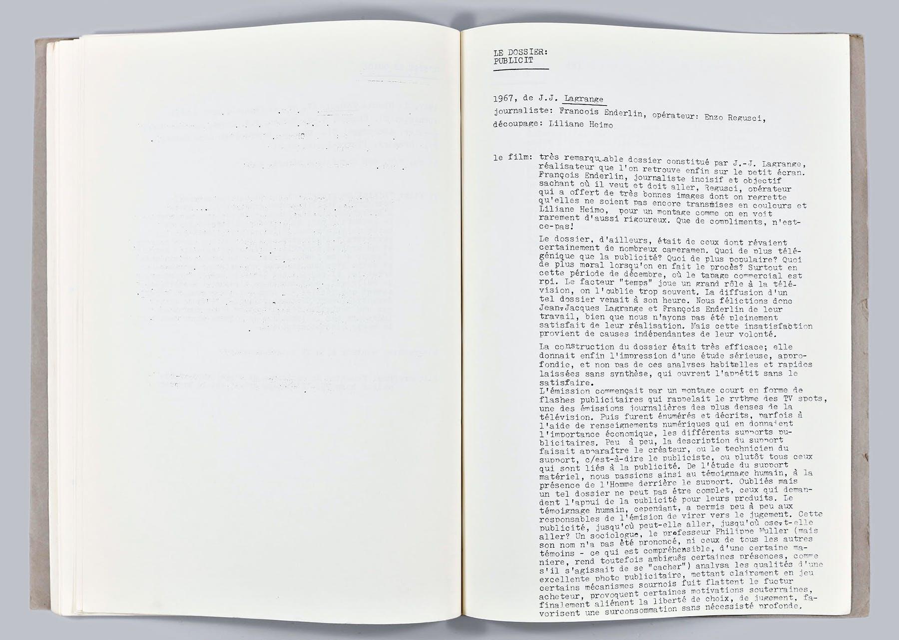 Bild 1 von Le dossier: publicit
